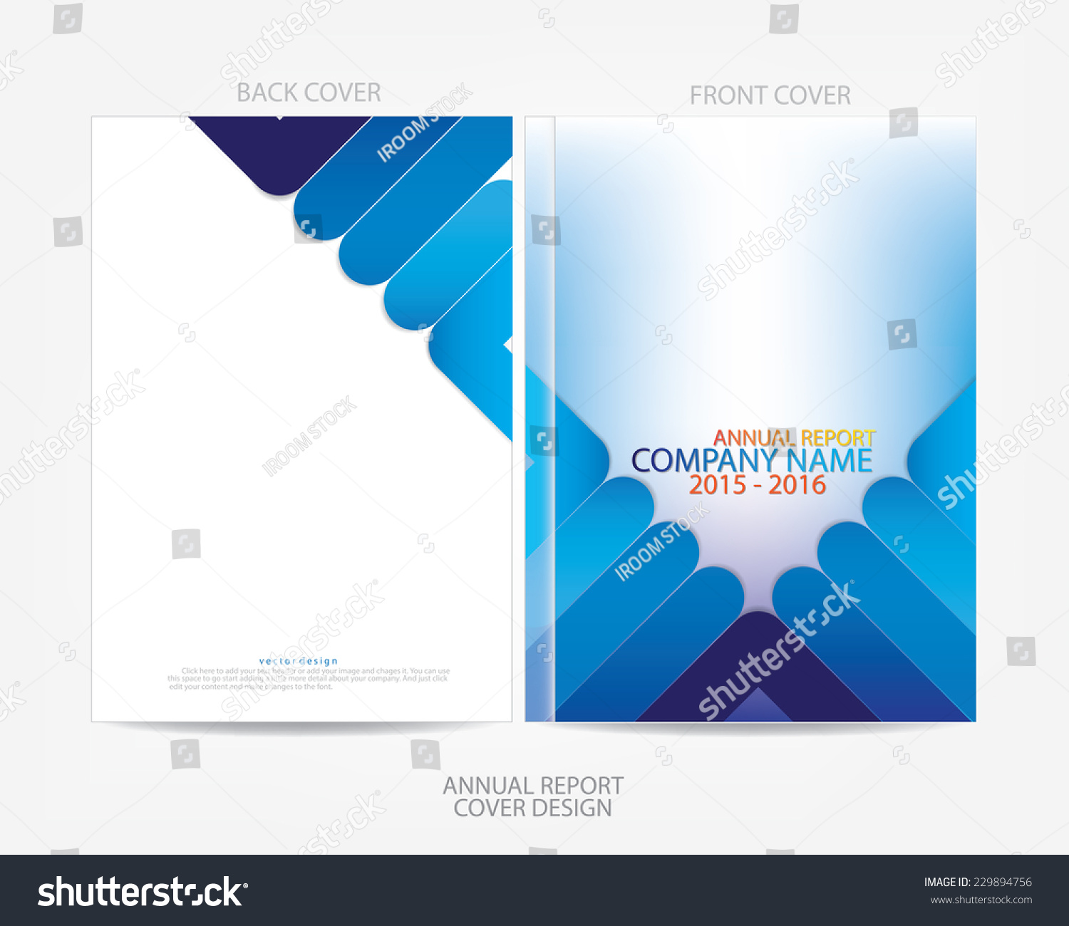 annual report cover design stock vector 229894756 shutterstock annual report cover design