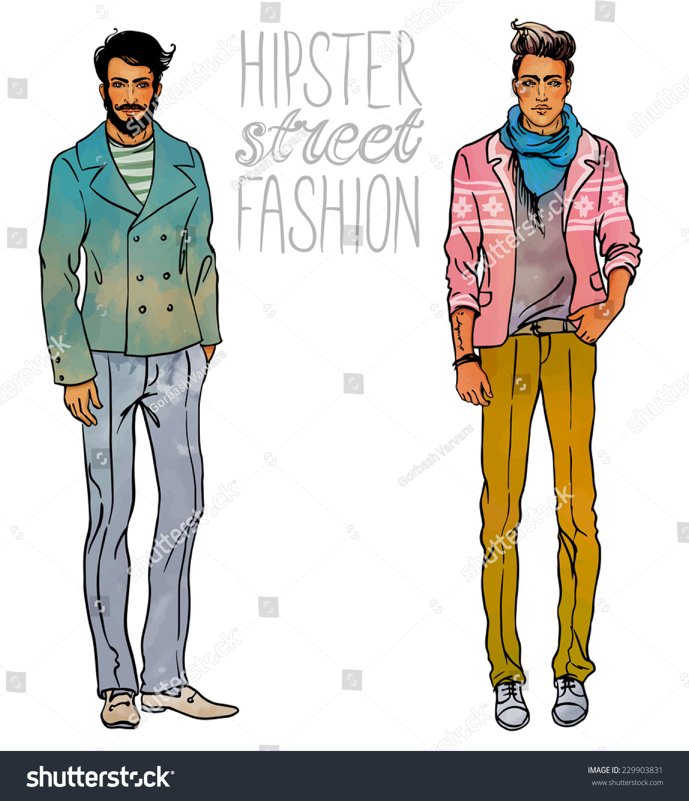 Style Hipster Man