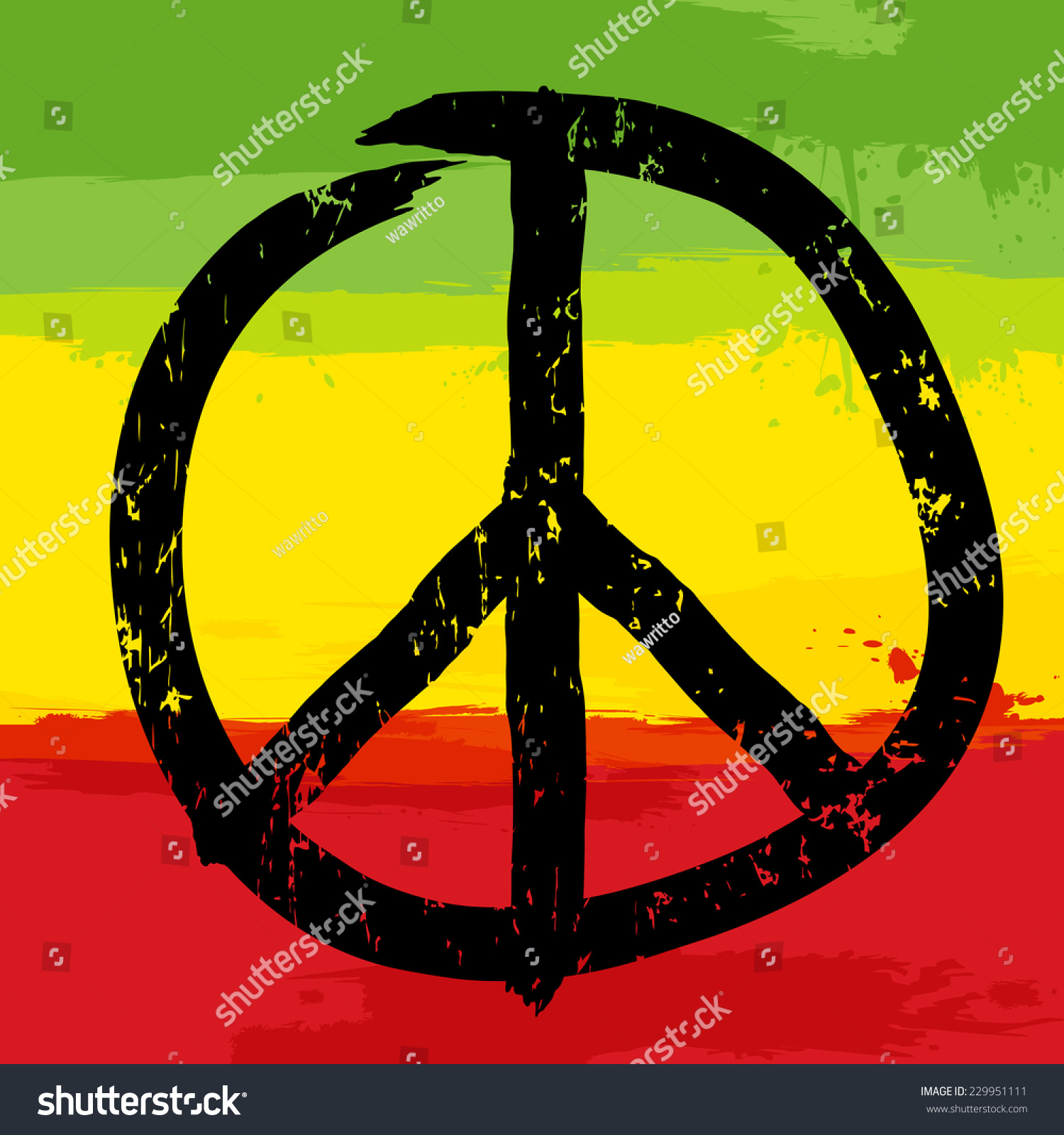 Peace symbol rastafarian colors background vector stock vector peace symbol and rastafarian colors in background vector illustration biocorpaavc Image collections