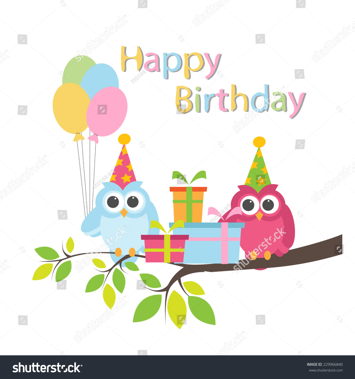 Birthday invitation vector stock vector 229966840 shutterstock birthday invitation vector stopboris Image collections