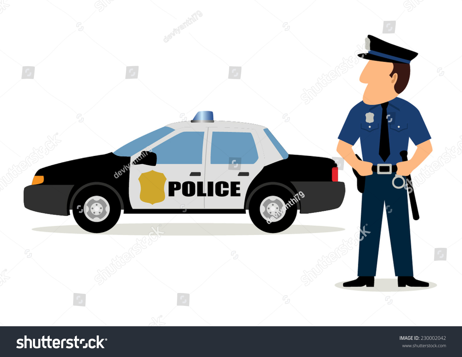 simple cartoon of a policeman and police car stock vector policeman clipart images police clipart