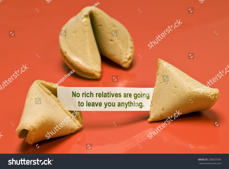 Horizontal Broken Fortune Cookie Saying No Stock Photo Edit Now 230037349