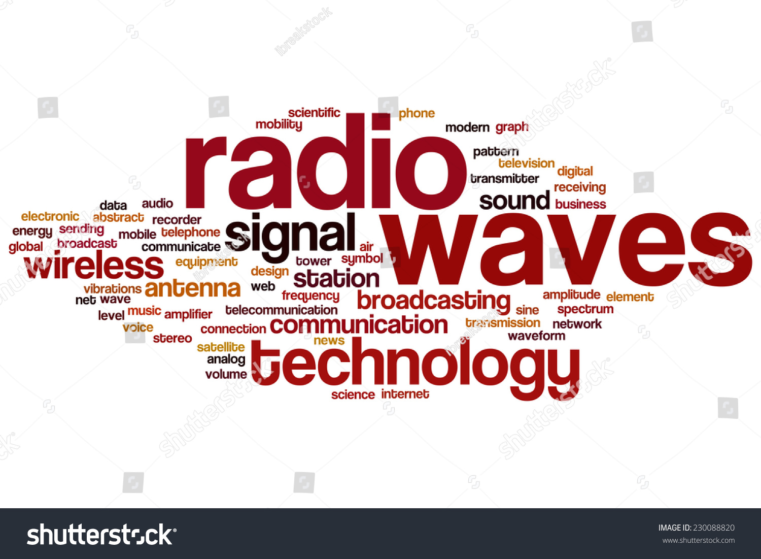 Radio Waves Word Cloud Concept Stock Illustration 230088820 ...