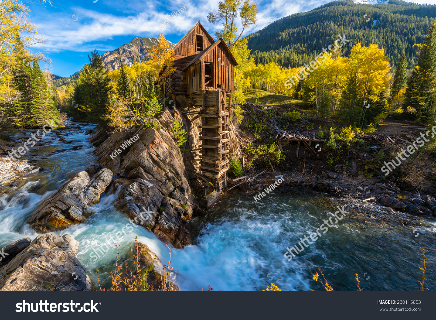 Crystal Mill Wooden Powerhouse Located On Stock Photo