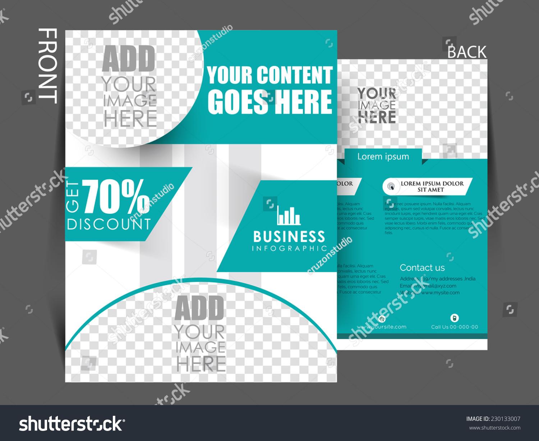 Vector Business Corporate Flyer Template Brochure Stock Vector