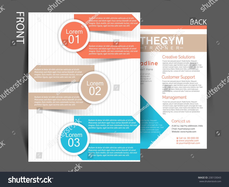 Vector Business Corporate Flyer Template Brochure For Multipurpose