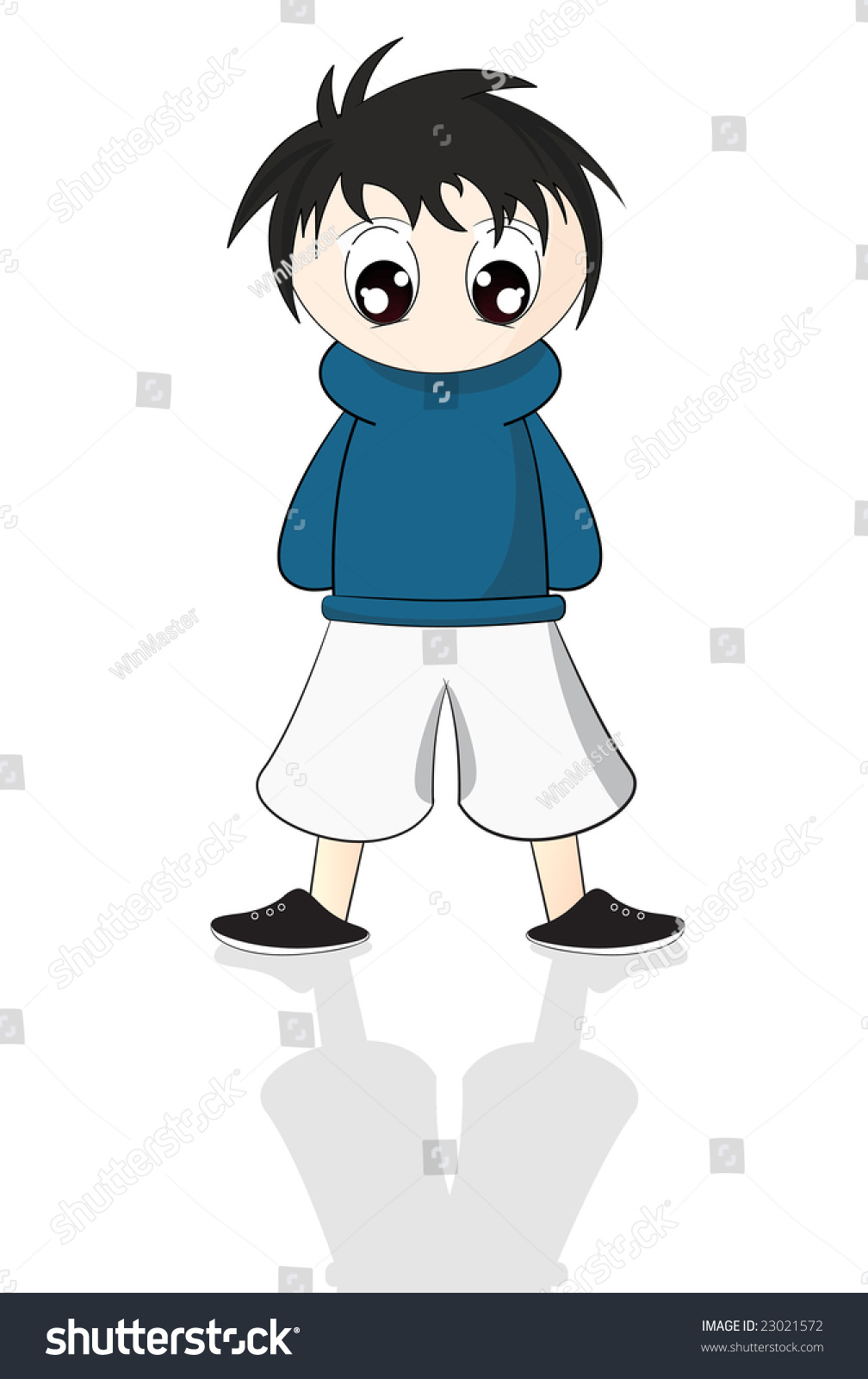 Cute anime boy kid