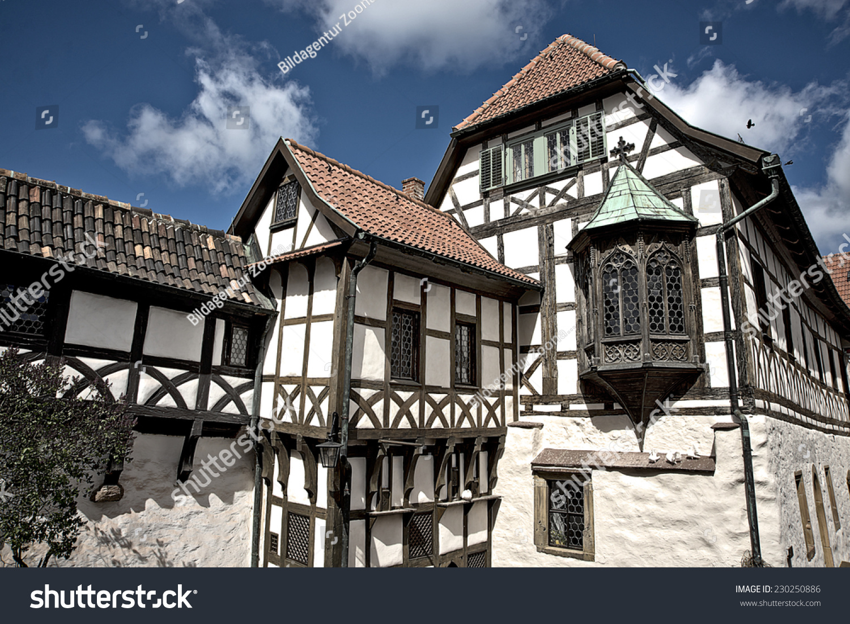 half timbered house fotka 230250886 shutterstock. Black Bedroom Furniture Sets. Home Design Ideas