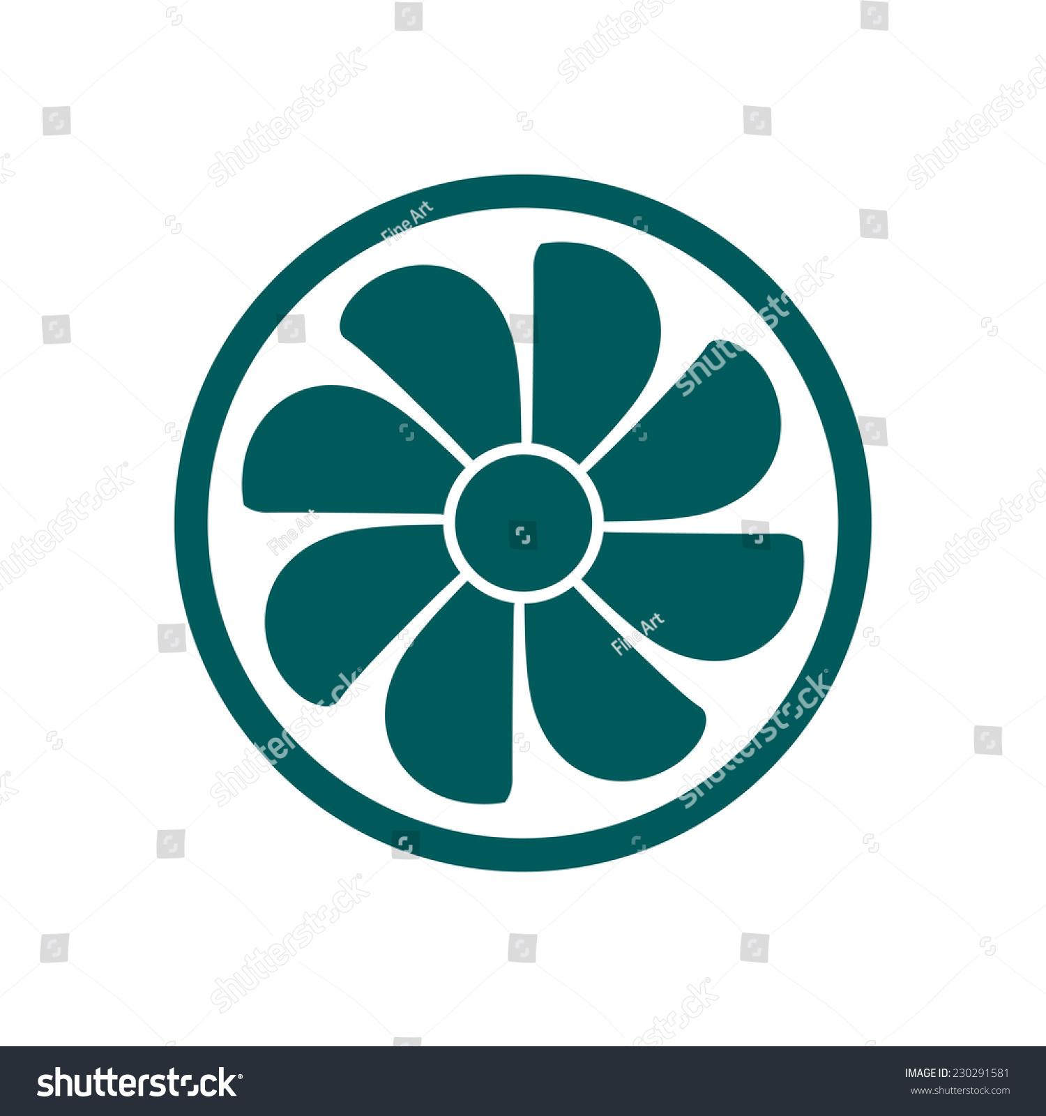 Exhaust Fan Symbol : Exhaust fan icon ventilator symbol stock vector