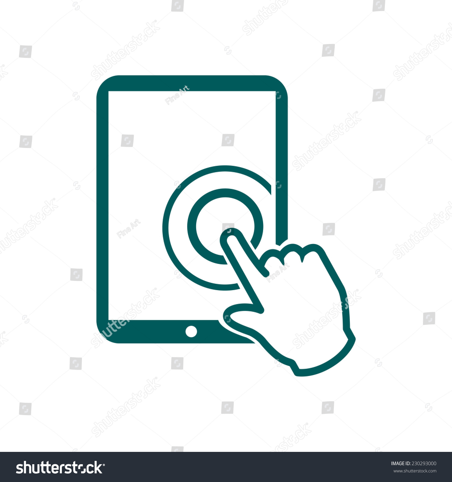 Touch Screen Tablet Pc Sign Icon Stock Vector Royalty Free