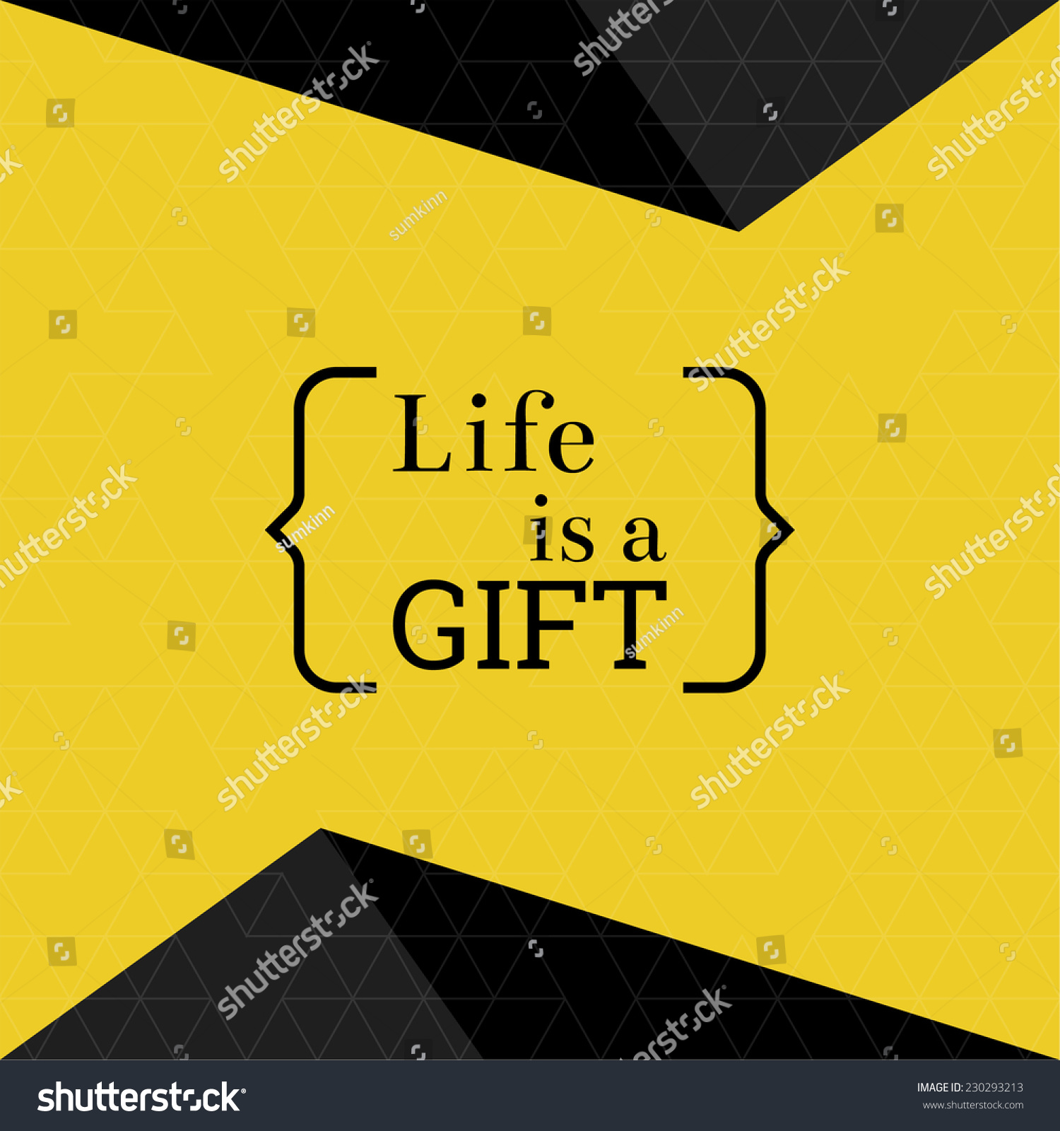 Wise Sayings And Quotes About Life Inspirational Quote Life Gift Wise Saying Stock Vector 230293213