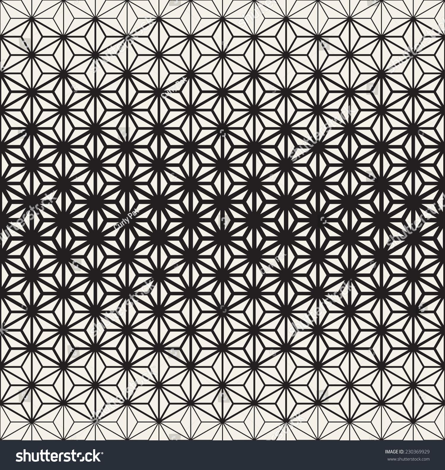 Seamless Geometric Pattern Geometric Reticulate Grid Stock Vector ...