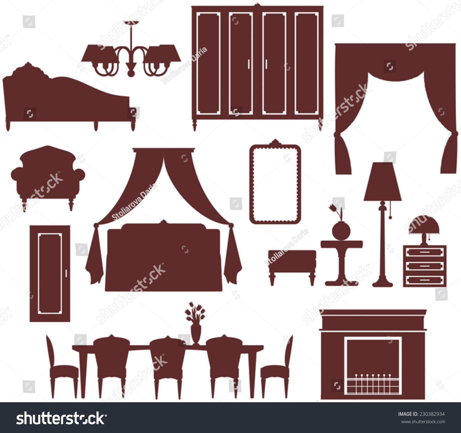 Furniture Interior Icon Stock Vector Illustration ...