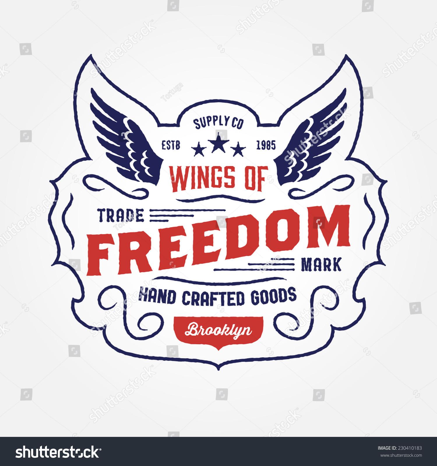 Shirt design vintage - Original Retro T Shirt Apparel Graphic Design Vintage Hand Crafted Logo Wings Of