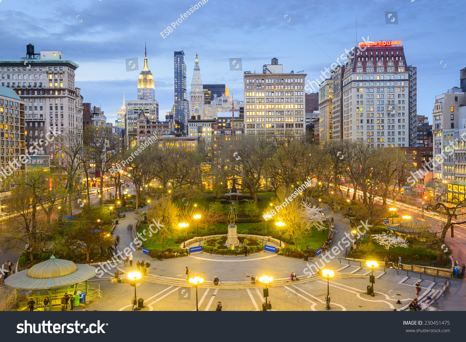New York City, USA cityscape at Union Square in Manhattan. #230451475