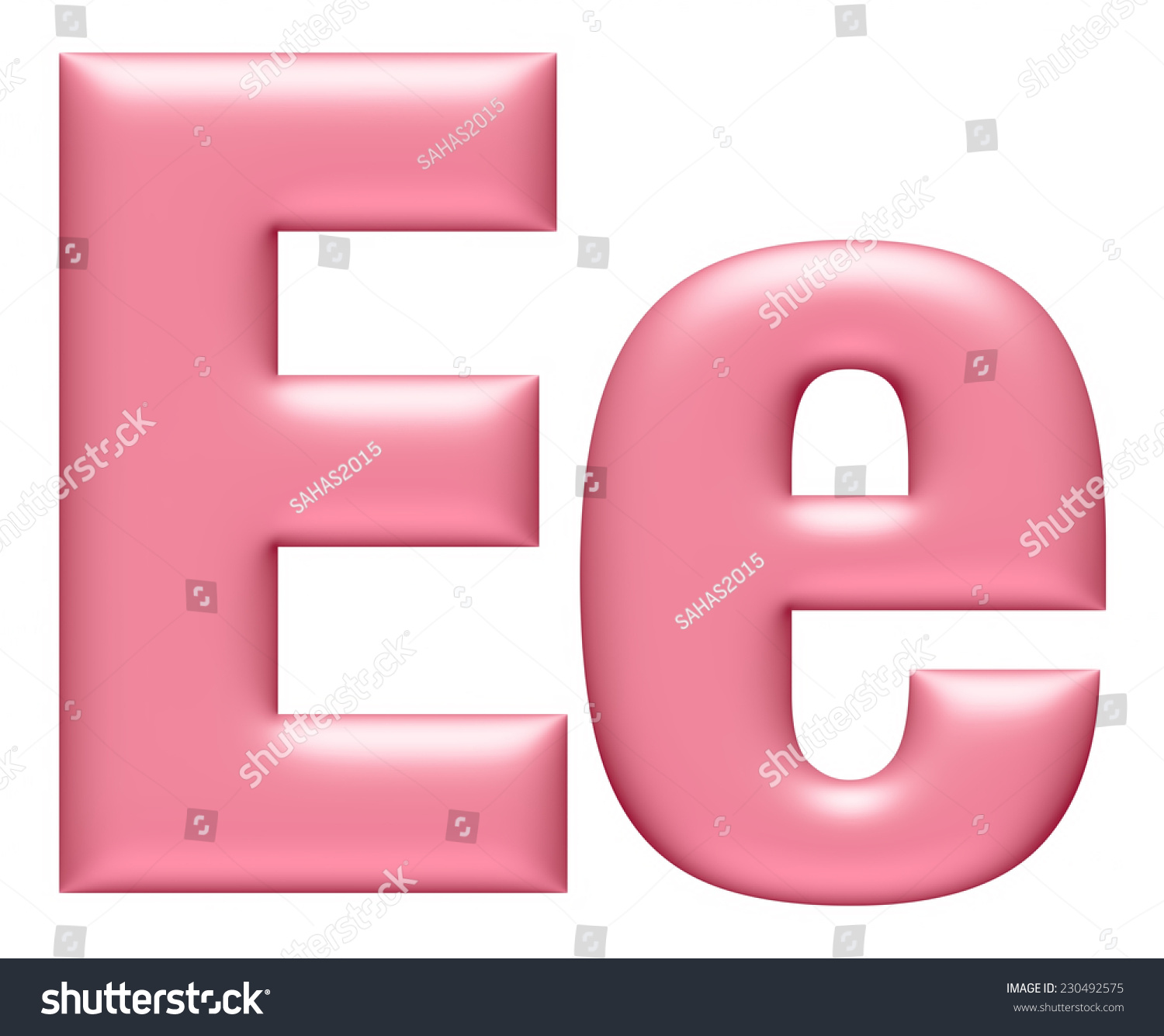 Big Small Letter E Isolated On Stock Illustration 230492575 ...