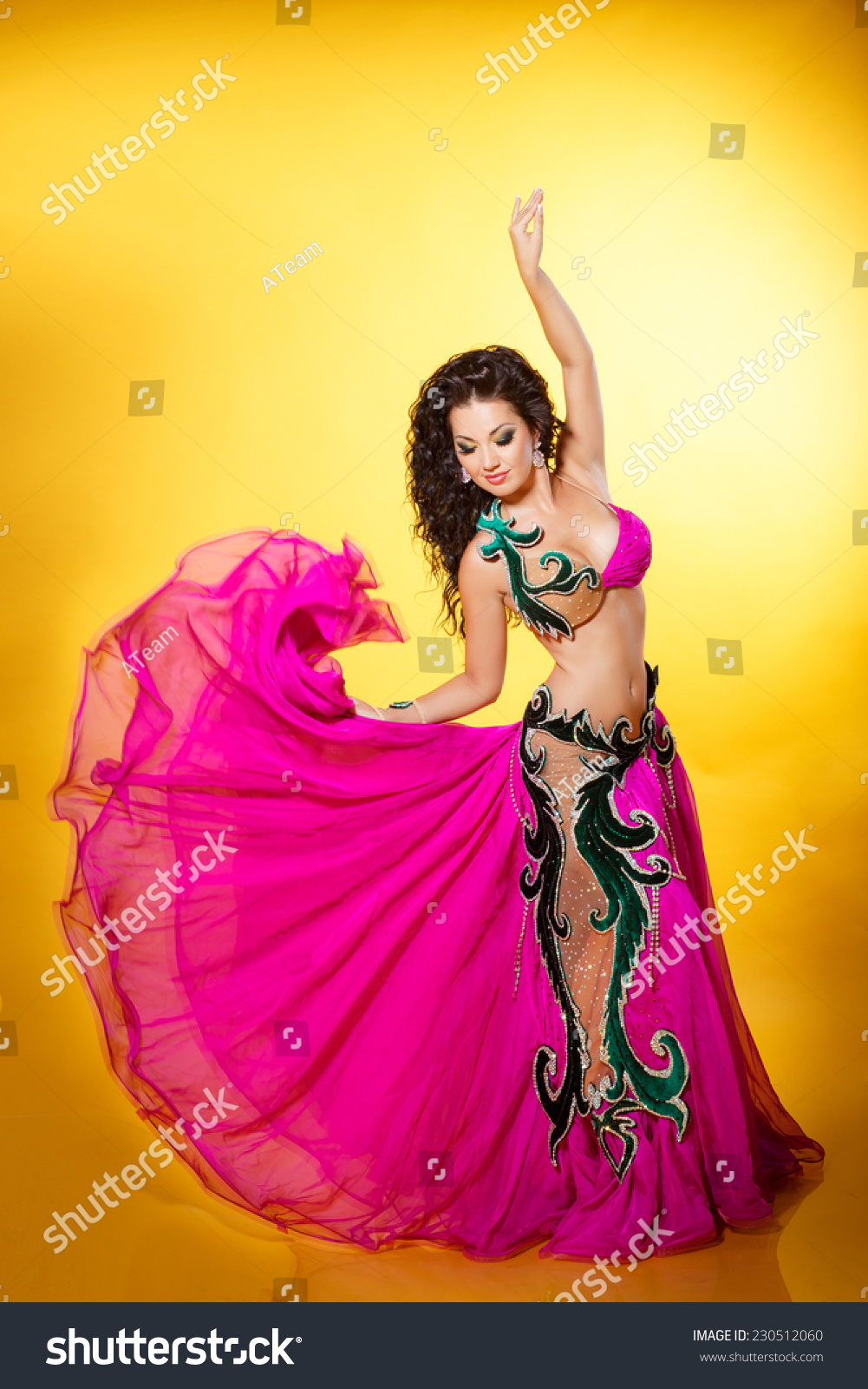 belly dancer woman beautiful exotic arabian stock photo (royalty