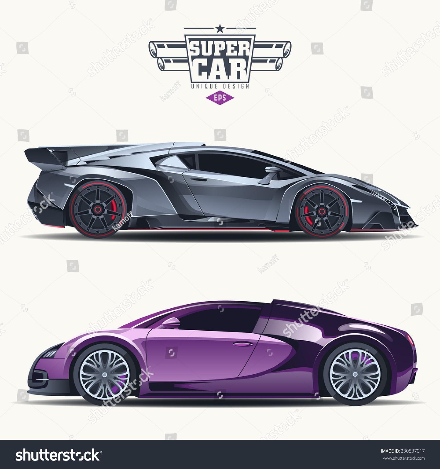 vetor stock de super car design concept unique modern livre de