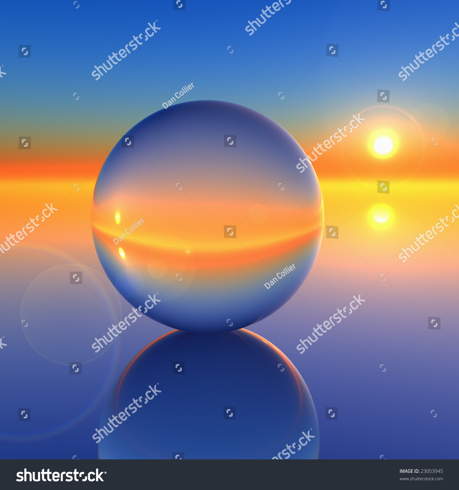 eebdce9a59 ... Future Ball  Abstract Crystal Ball On Future Horizon Stock Photo