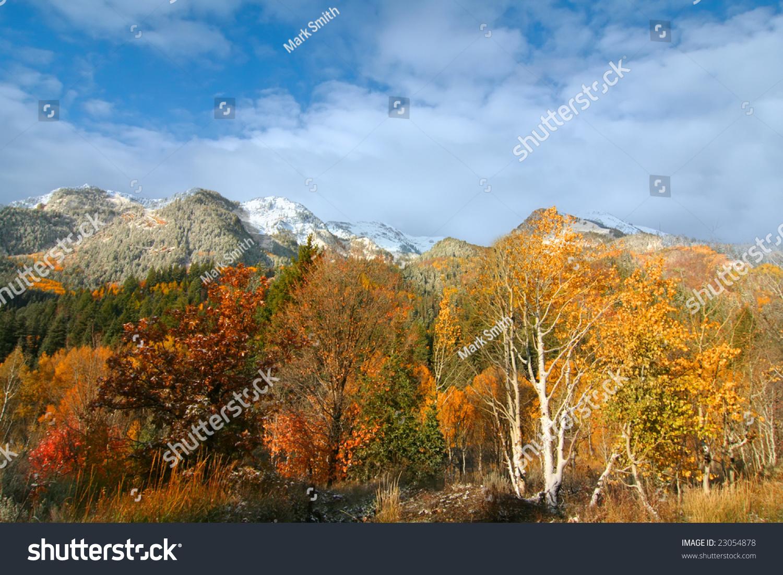 mountain meadow autumn above - photo #35
