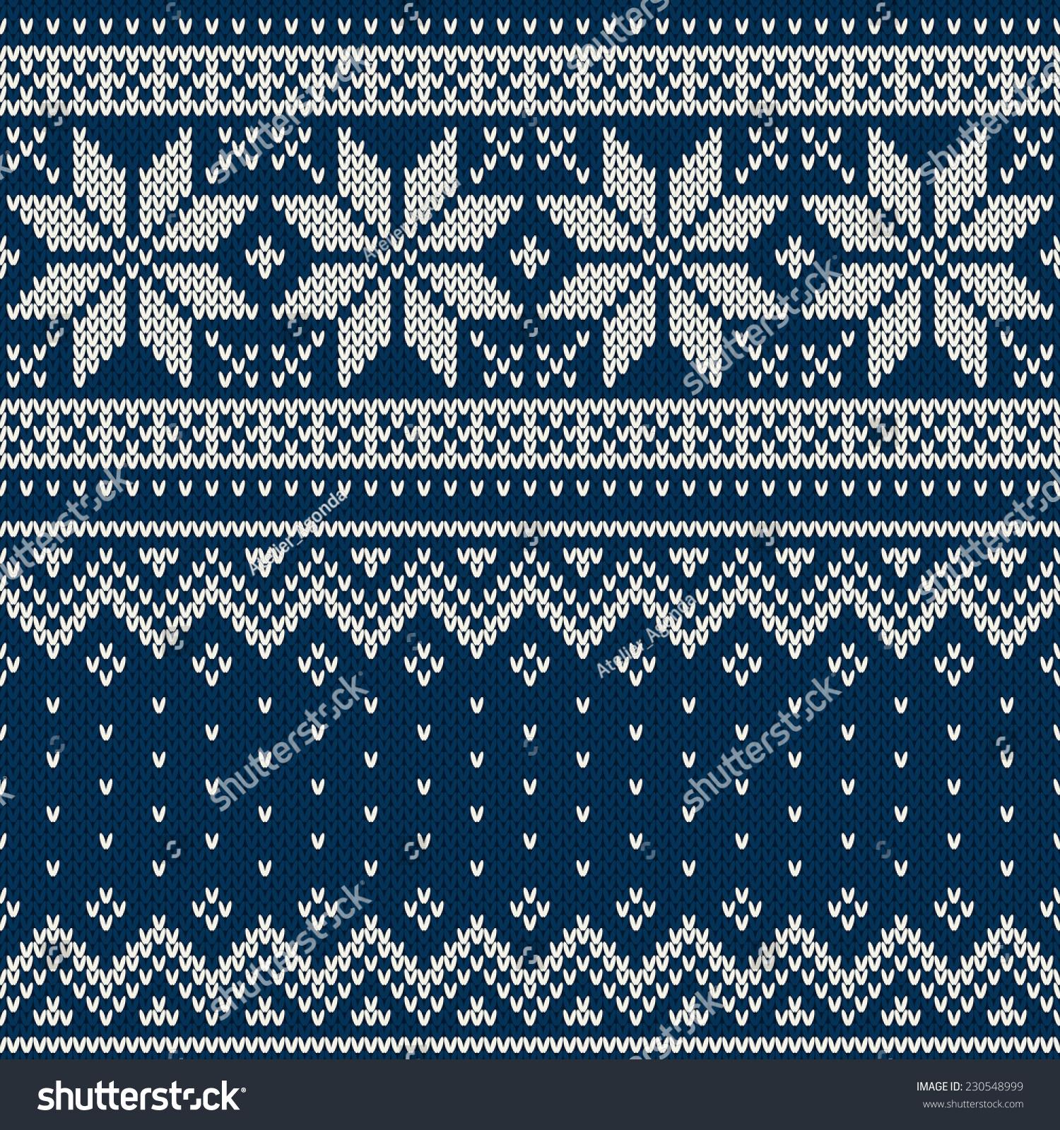 Drawing Knitting Pattern : Christmas sweater design seamless knitting pattern stock