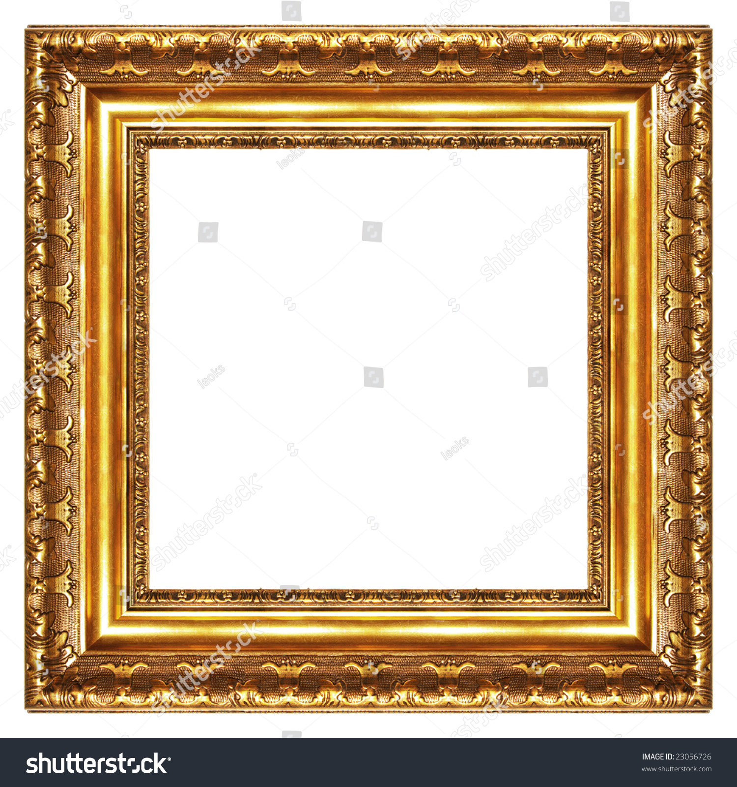 classy gilded frame square shape