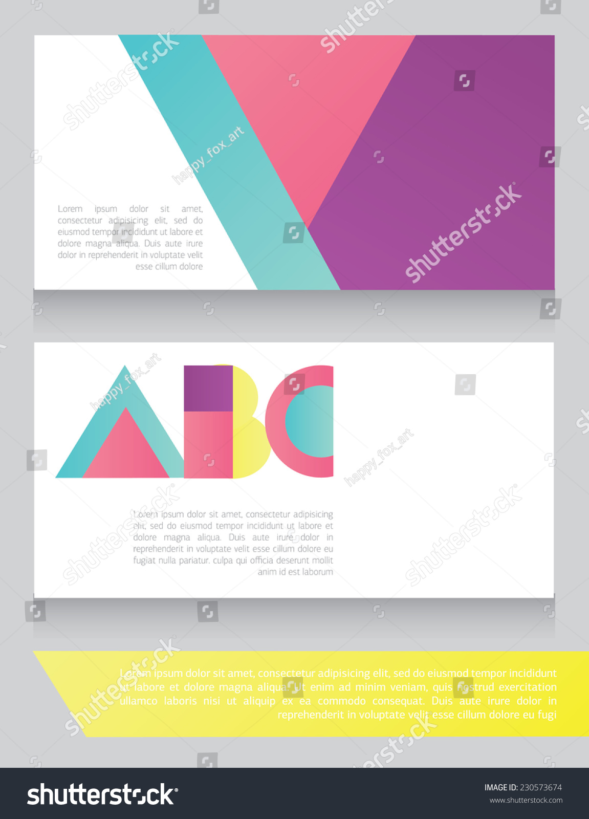 Colorful Geometrical Business Card Abc Letters Stock Vector ...