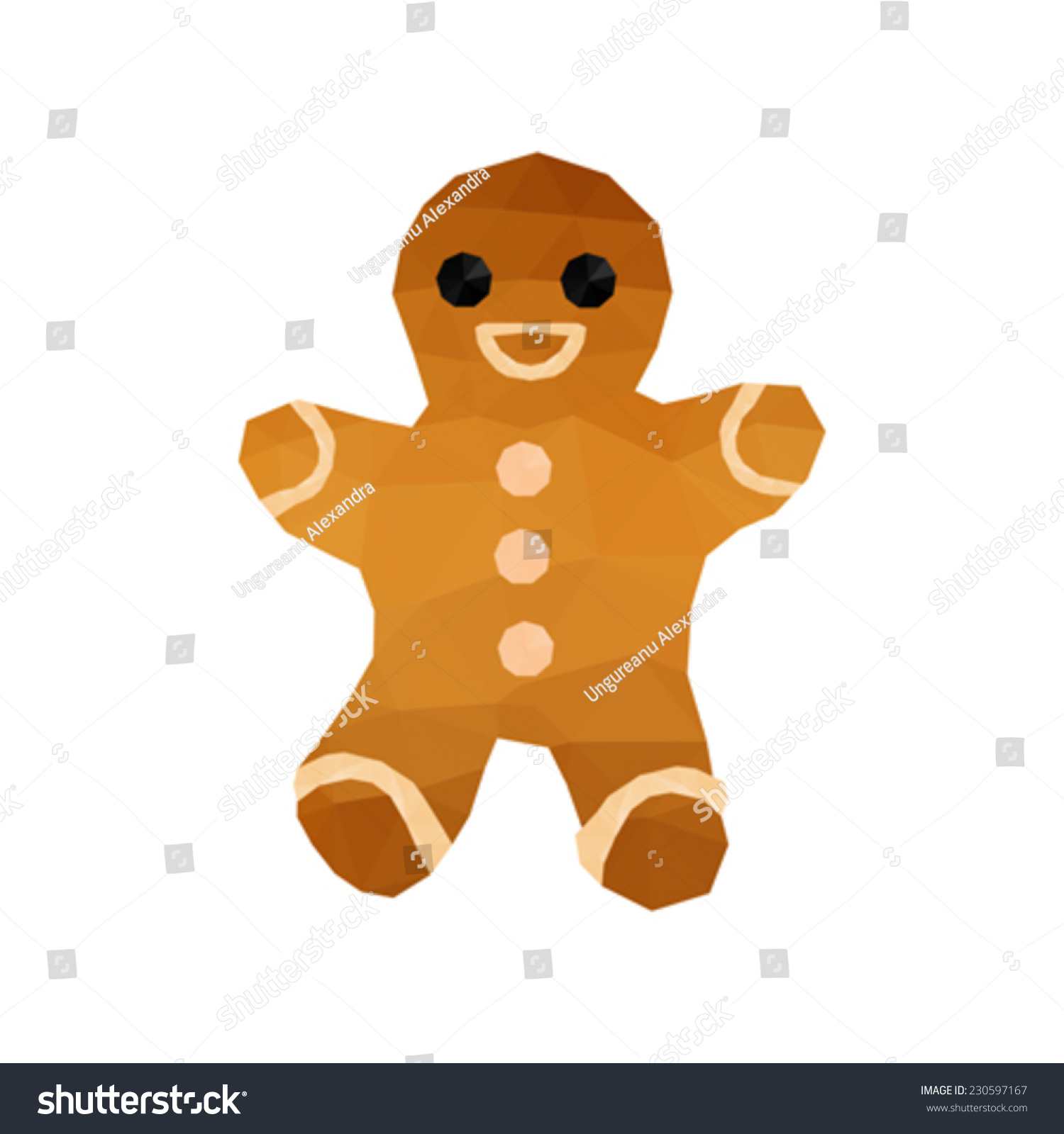 Illustration Of Funny Origami Gingerbread - 230597167 ... - photo#13