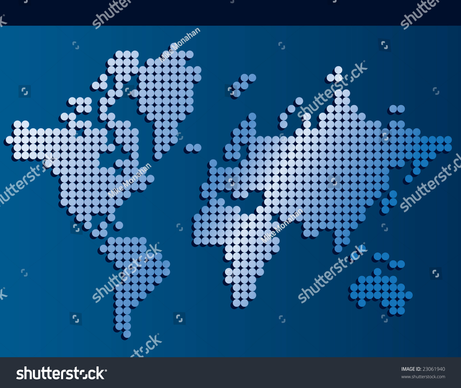 World map made dots banner background stock illustration 23061940 world map made of dots with banner background space for text gumiabroncs Choice Image
