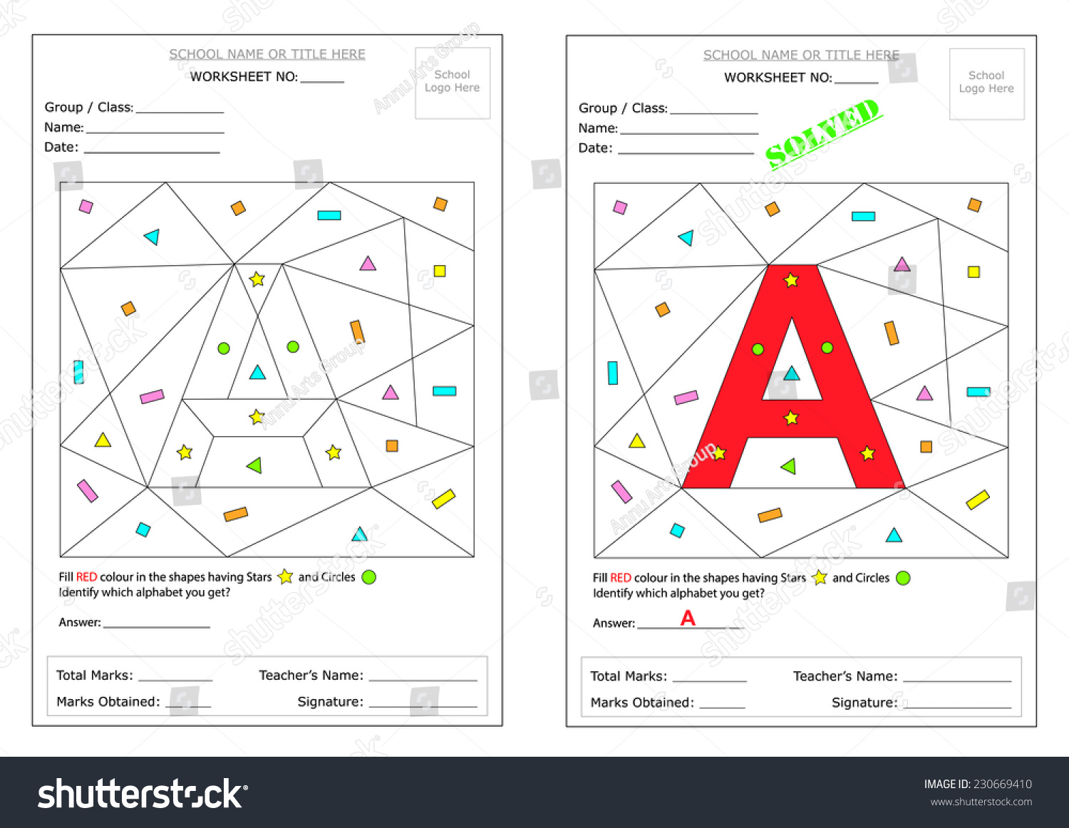 Editable Montessori Worksheet Fill Defined Shapes Vector – Montessori Worksheets