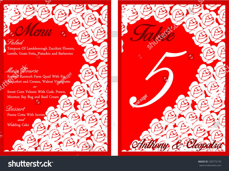 Heart Shaped Roses Wedding Invitation Card Stock Vector HD (Royalty ...