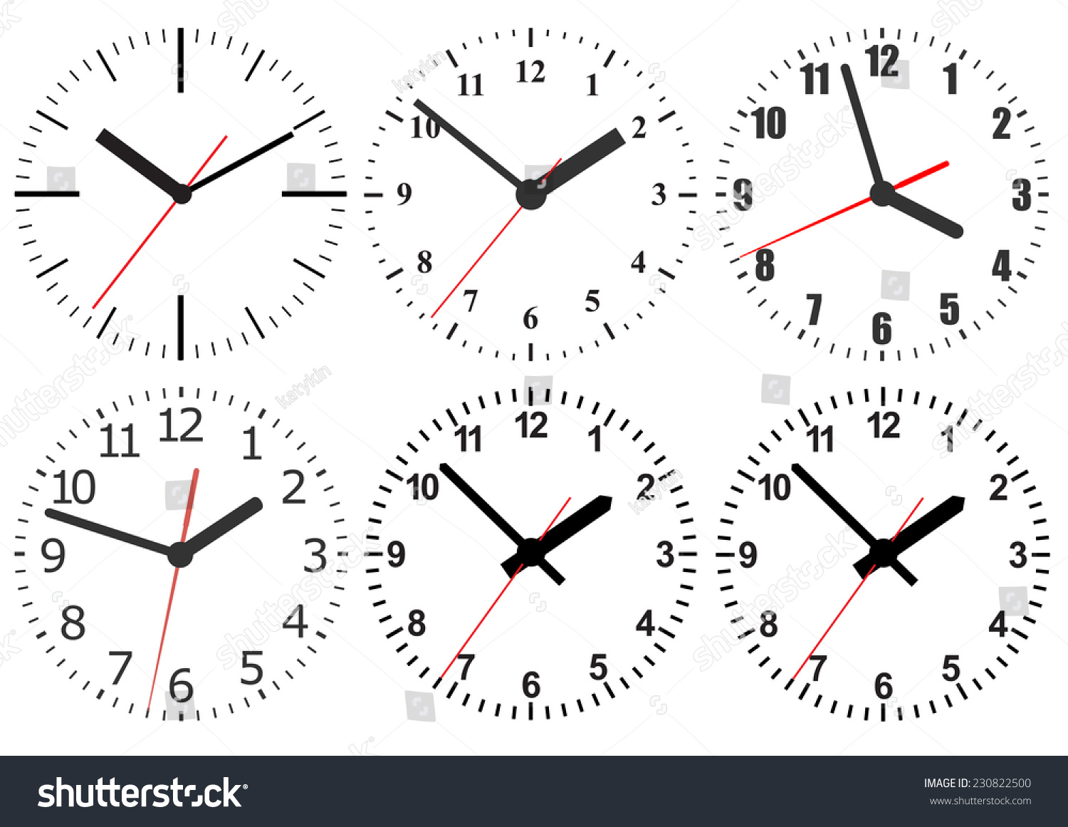 Wall mounted digital clocks wall mounted digital clock stock vector 230822500 shutterstock amipublicfo Image collections
