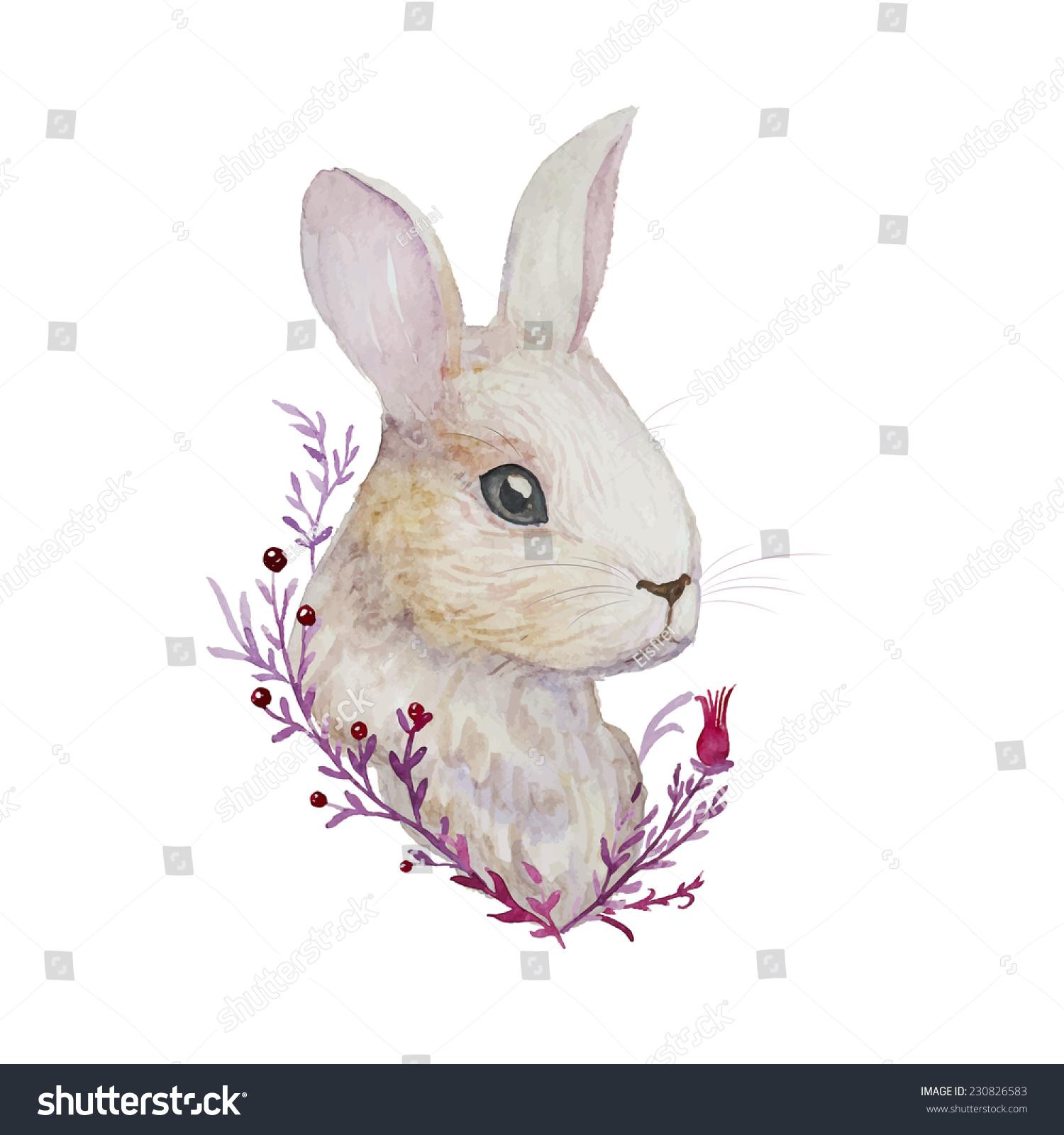 Realistic rabbit illustration - photo#3