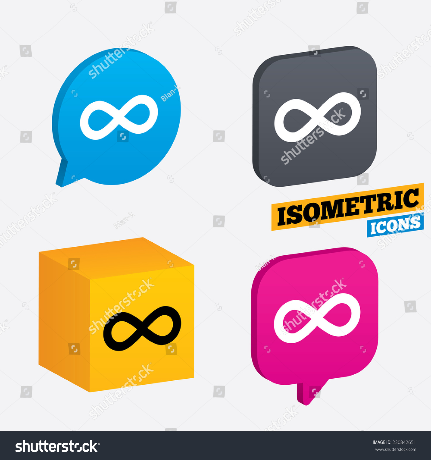 Limitless sign icon infinity symbol isometric stock vector 230842651 limitless sign icon infinity symbol isometric speech bubbles and cube rotated icons with buycottarizona Image collections