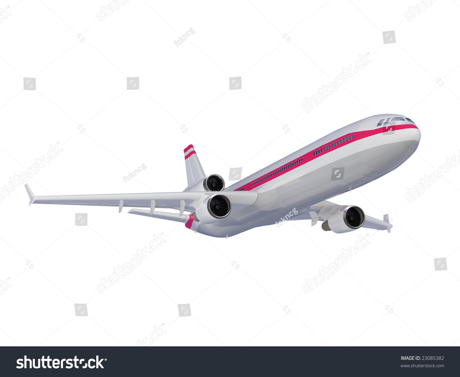 Isolated Airplane Over White Background Stock Photo ...