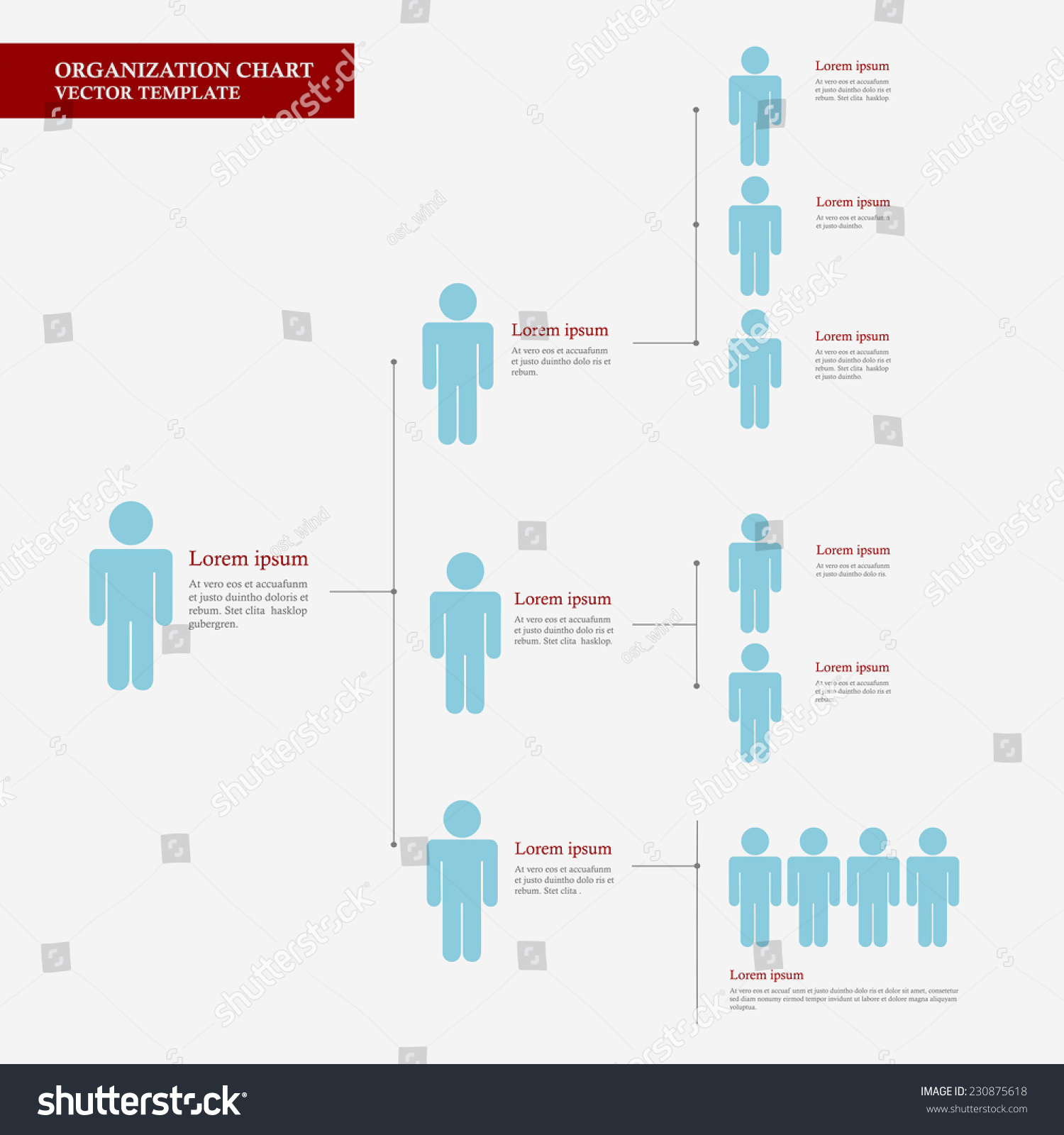 Corporate organization chart template business people stock photo corporate organization chart template with business people icons corporate hierarchy human model connection wajeb Image collections