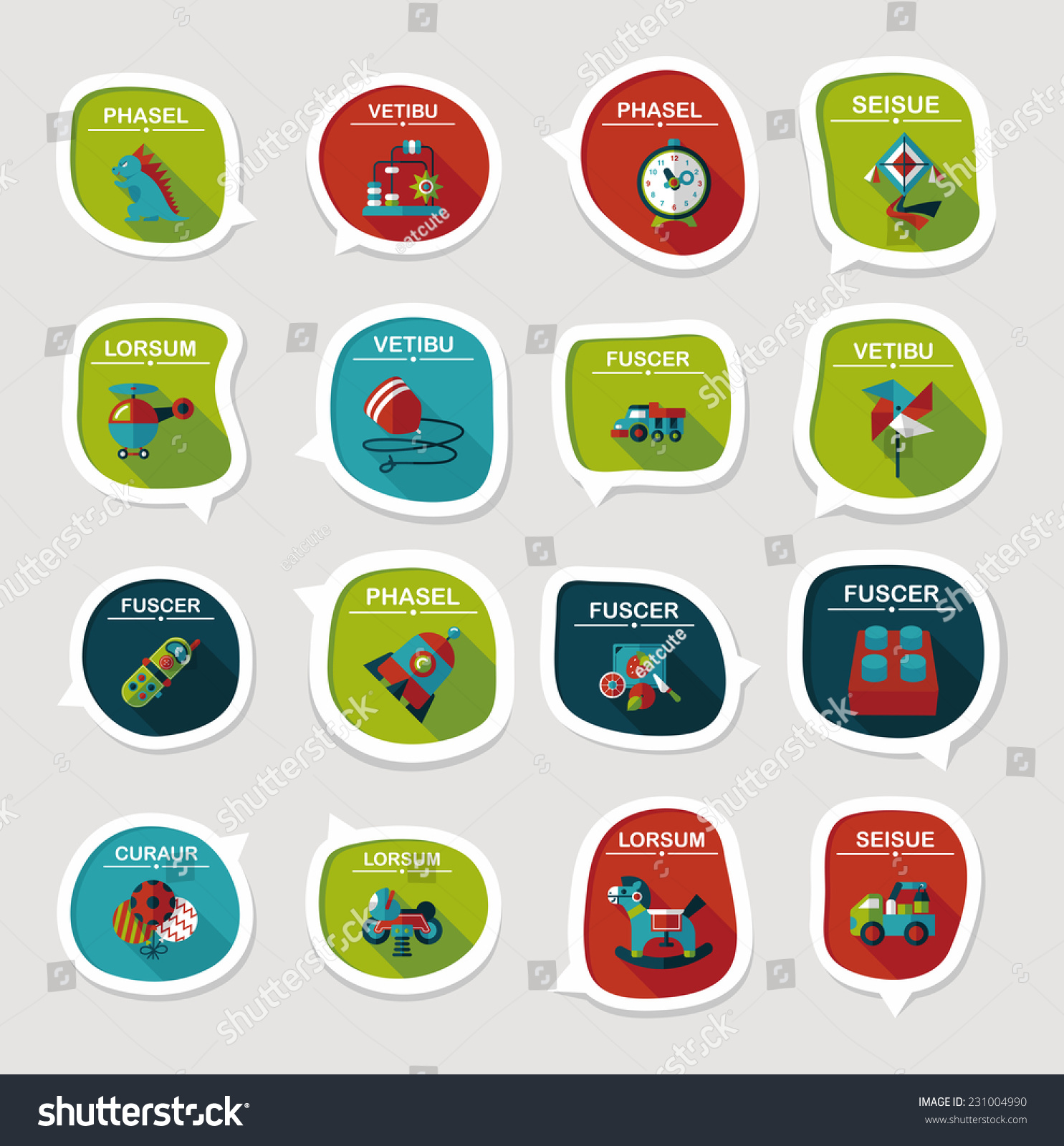 Text Bubble Toys For Tots : Toy speech bubble banner design flat stock vector