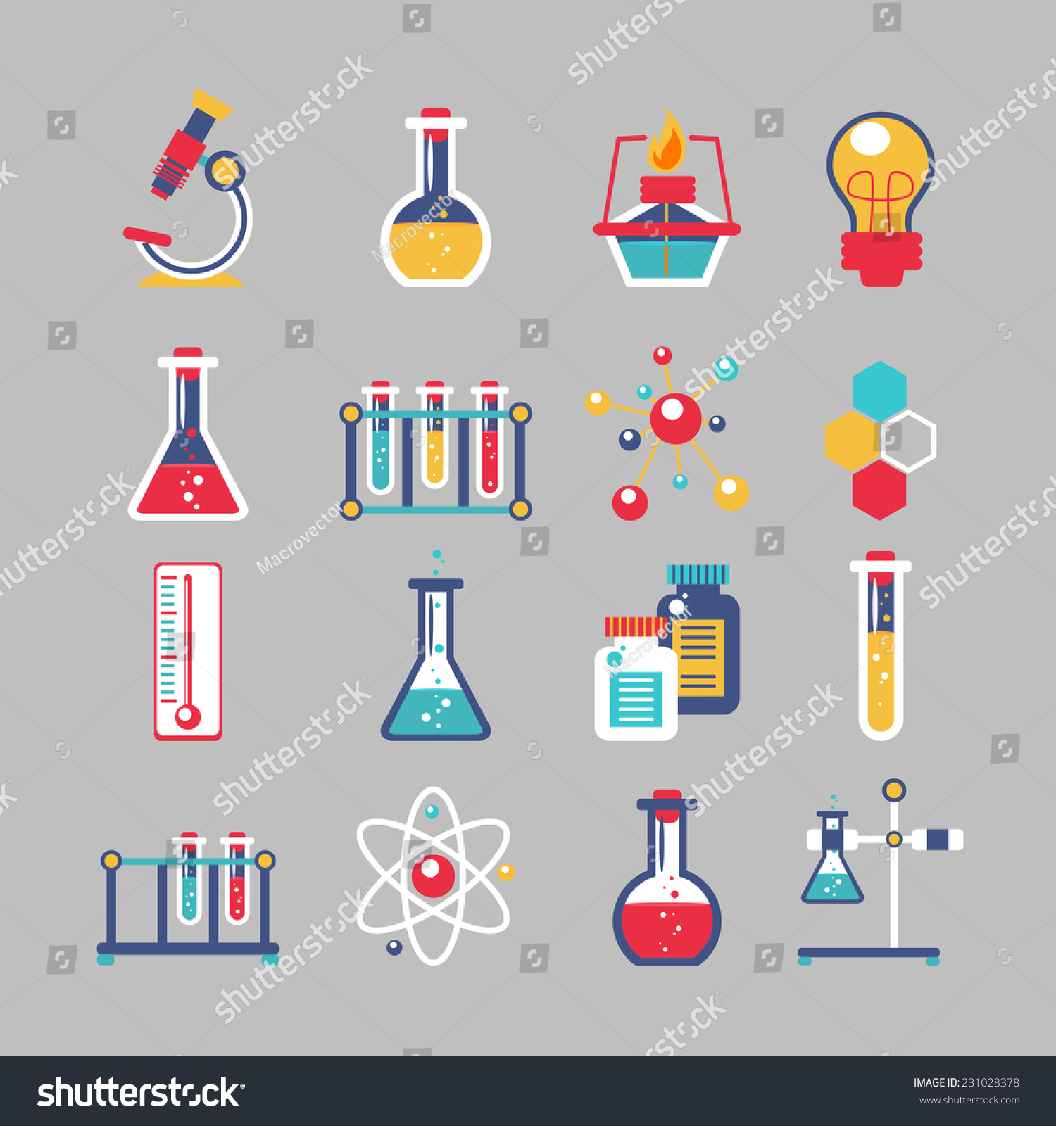 chemistry decorative icons set chemical lab stock vector  chemistry decorative icons set chemical lab scientific experiment equipment isolated vector illustration