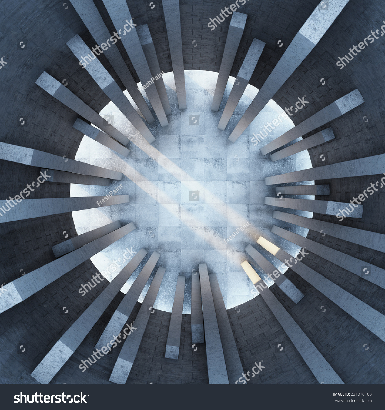 Architectural design building top view stock illustration for Top view design