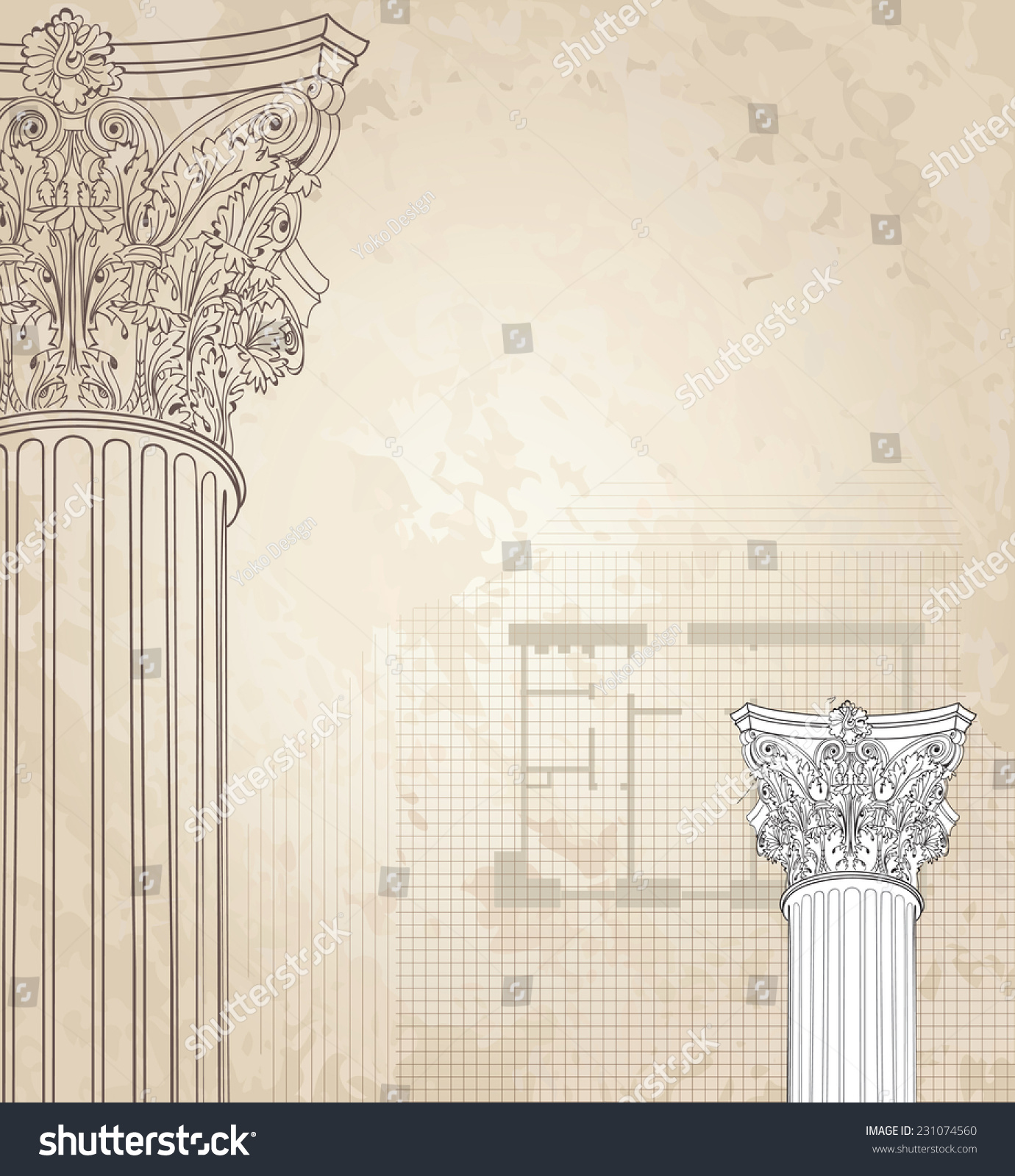 Classic columns seamless background roman corinthian stock for Classic columns paper