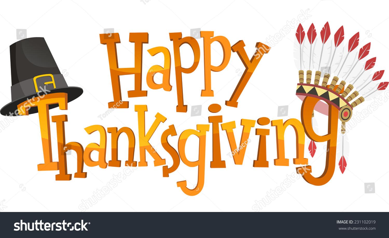 Happy Thanksgiving Banner Sign Vector Illustration Stock ...