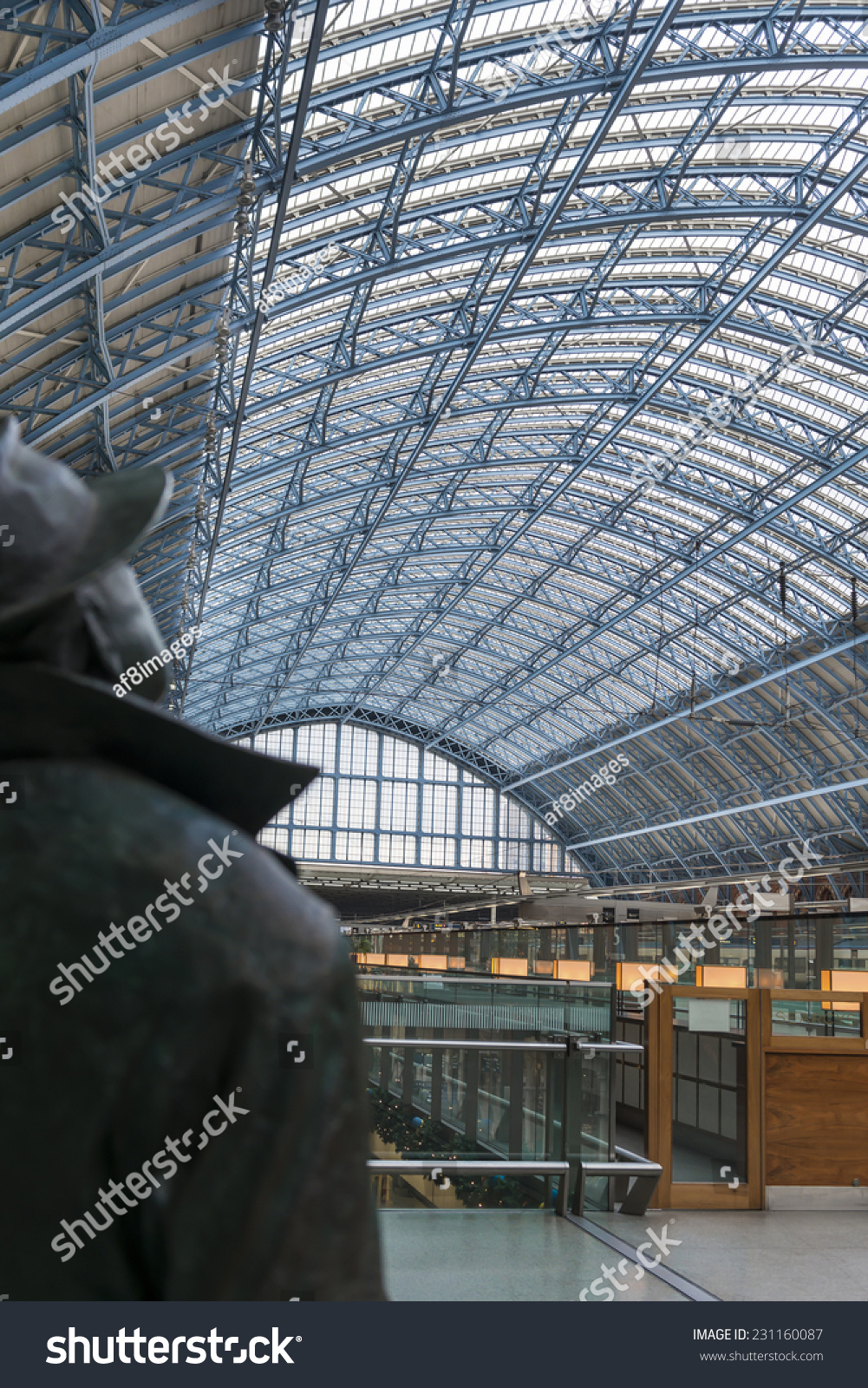 LONDON UK - OCTOBER 15 The canopy of St Pancras International station in London & London Uk October 15 Canopy St Stock Photo 231160087 - Shutterstock
