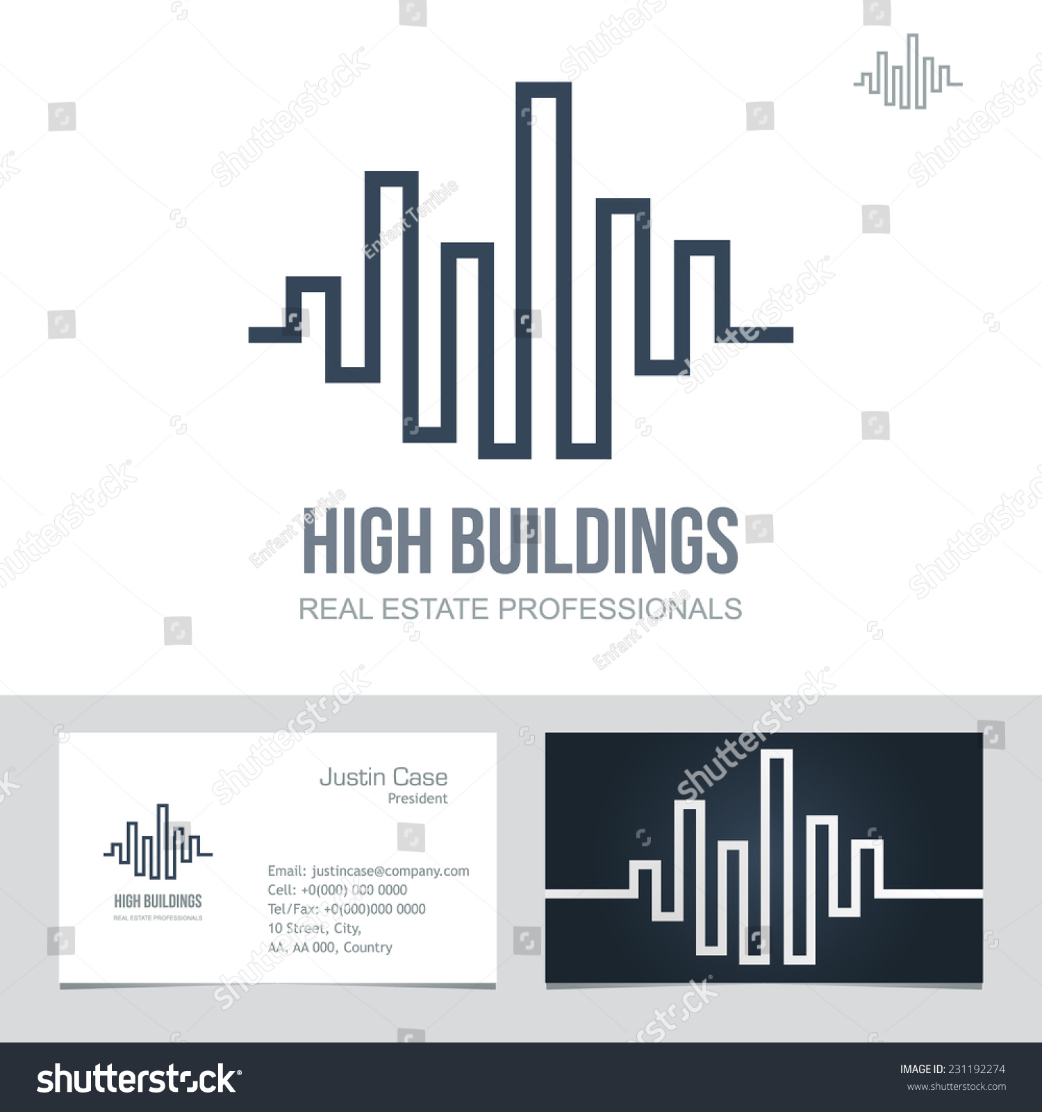 real estate business sign business card stock vector