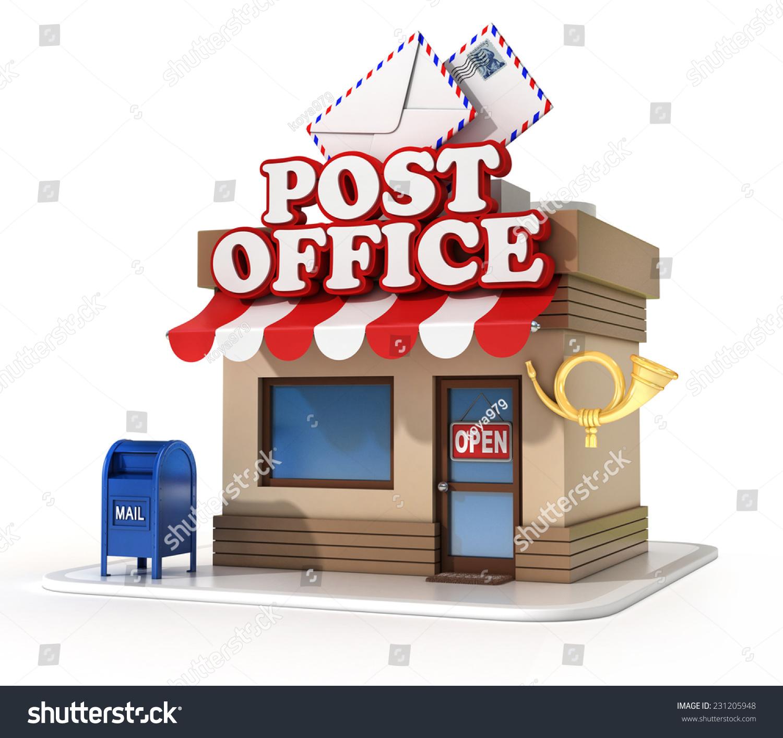 Post Office 3d Illustration Stock Illustration 231205948