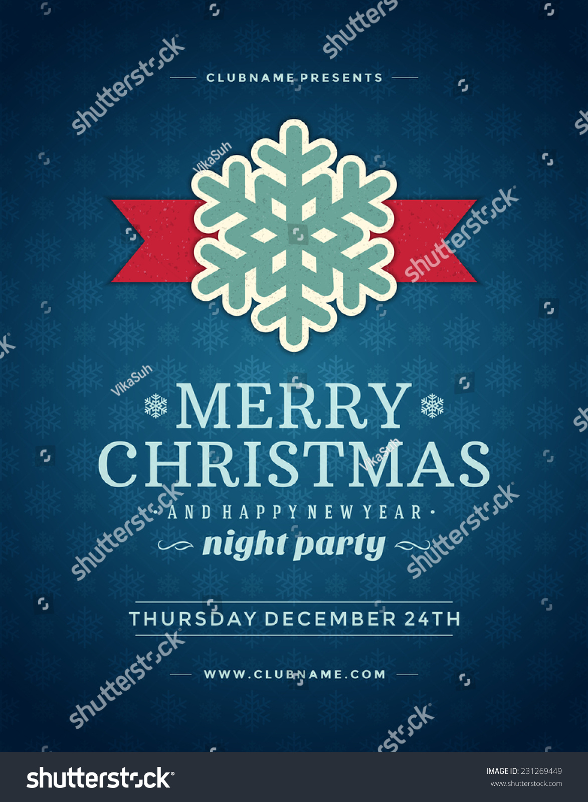 christmas night party poster or flyer vector illustration merry save to a lightbox