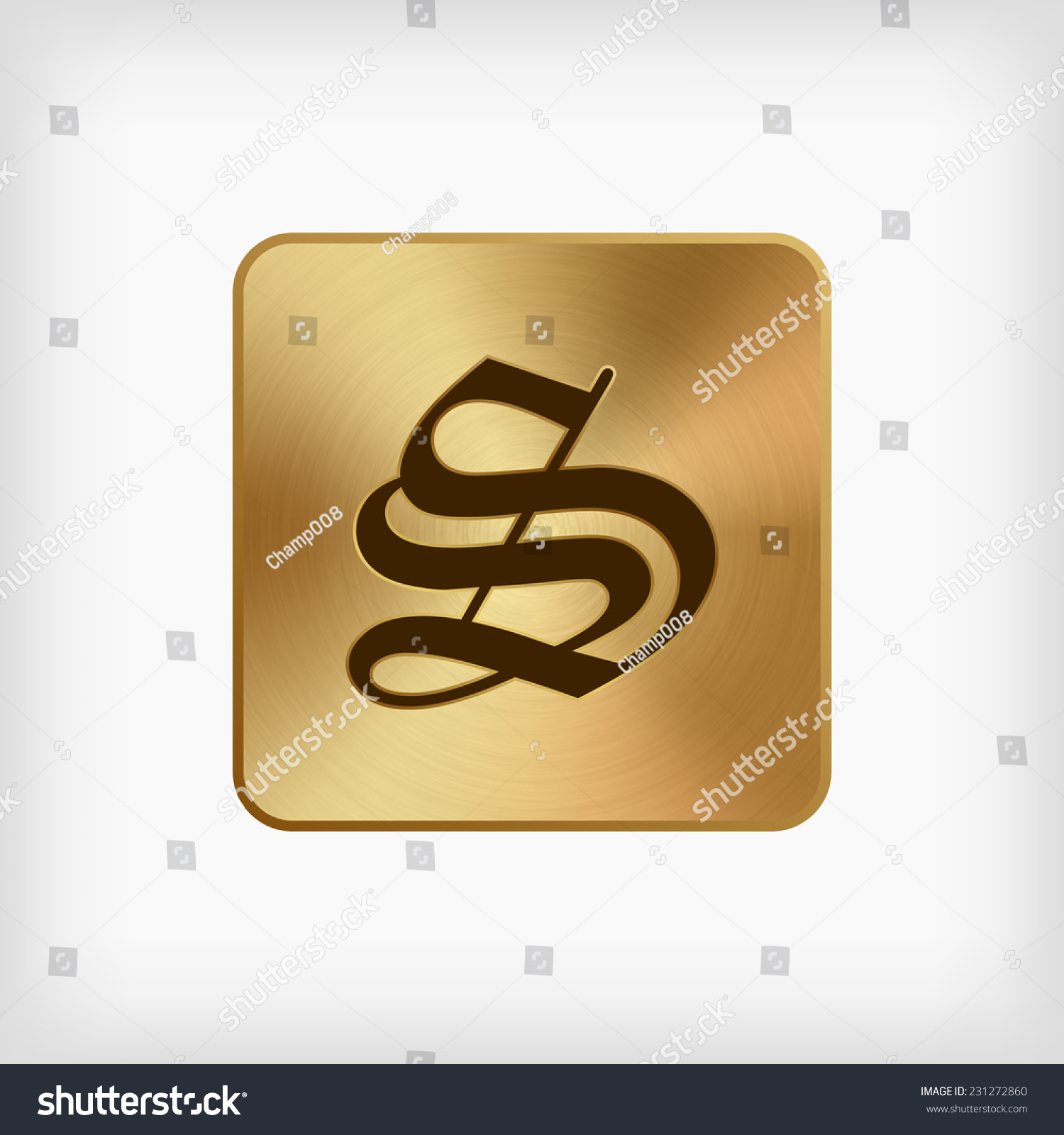 Isolated Old English Alphabet S Letter Stock Vector Royalty Free
