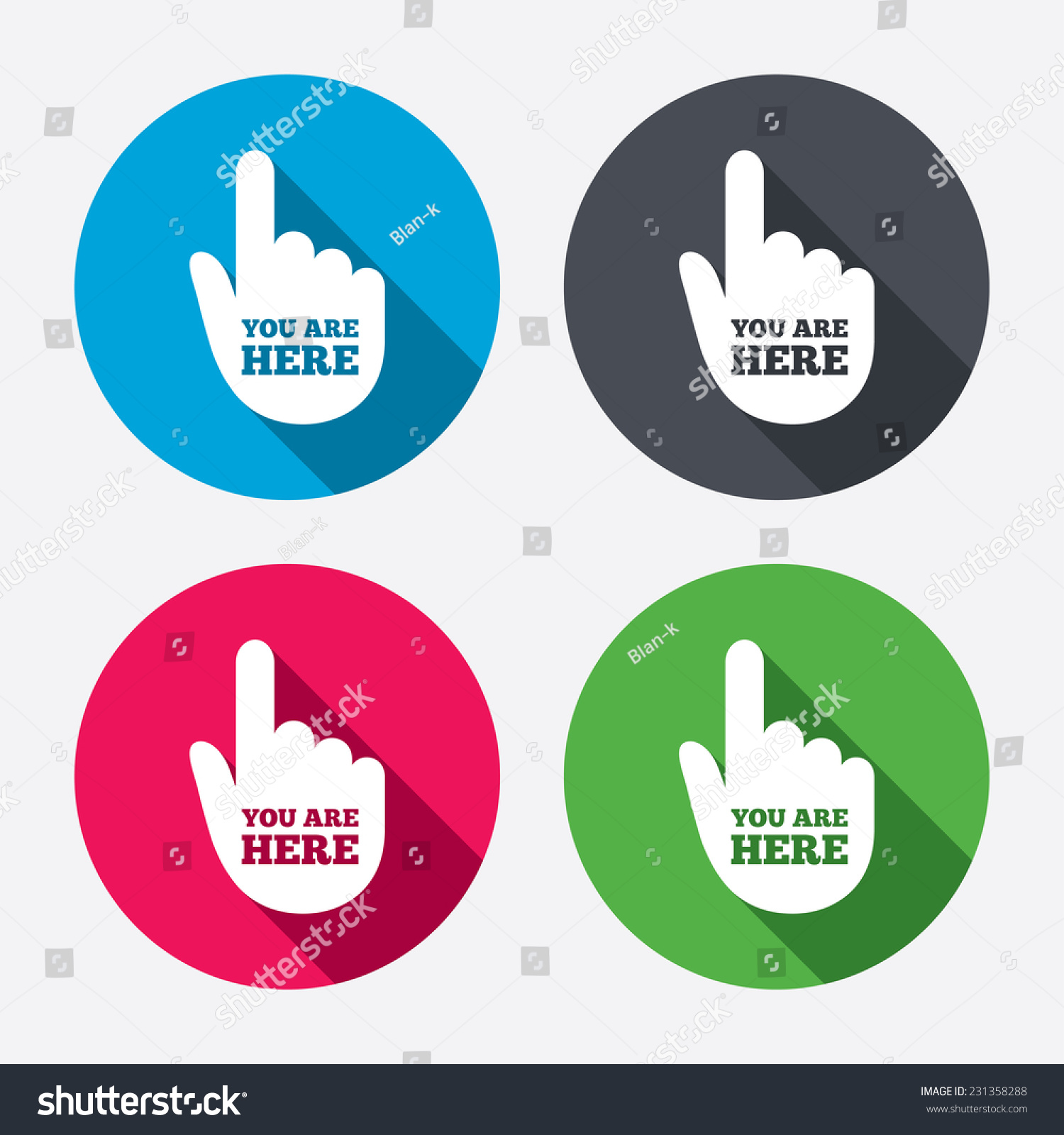 You Here Sign Icon Info Symbol Stock Illustration 231358288