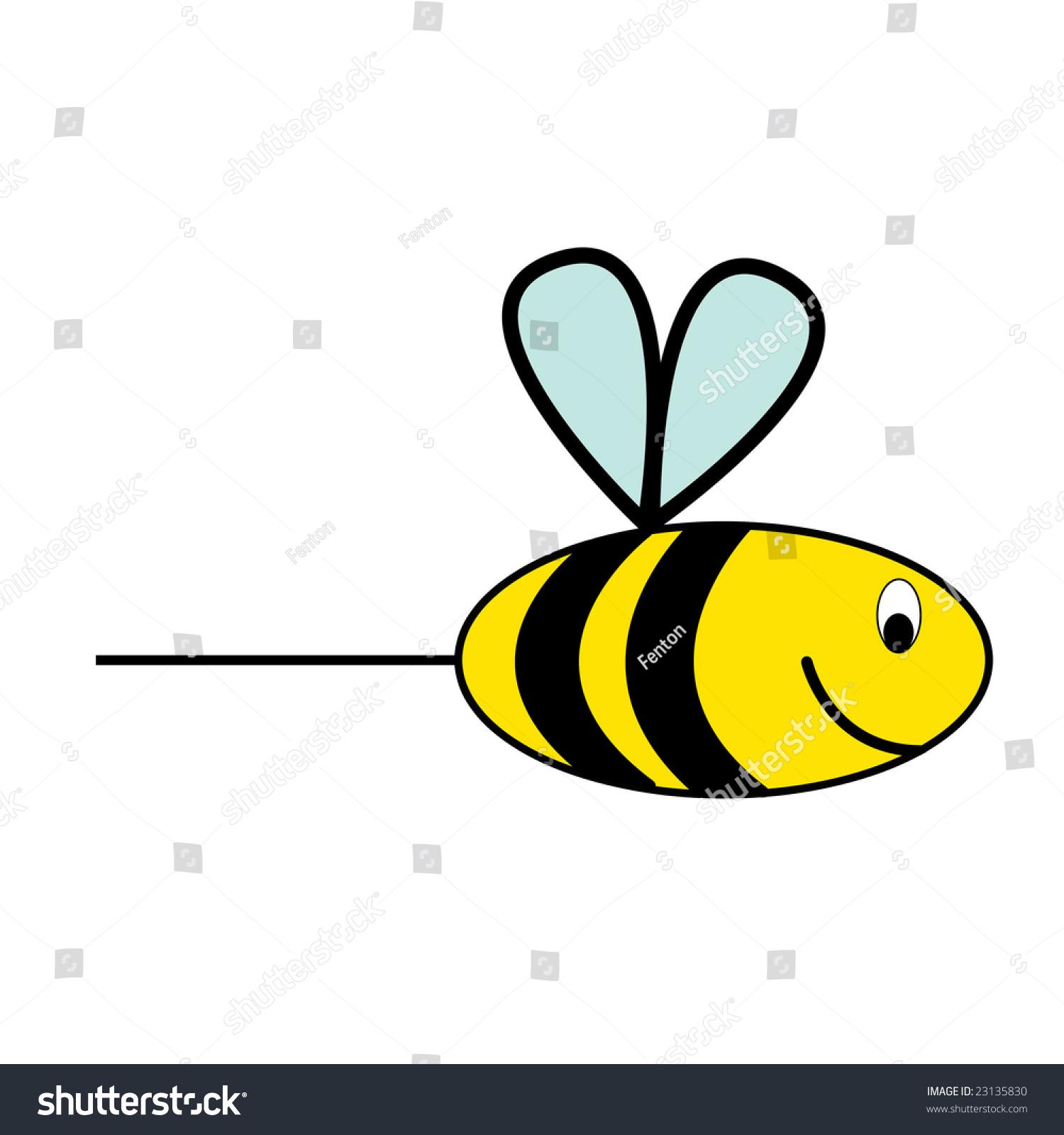 kids drawing honey bee wasp stock illustration 23135830
