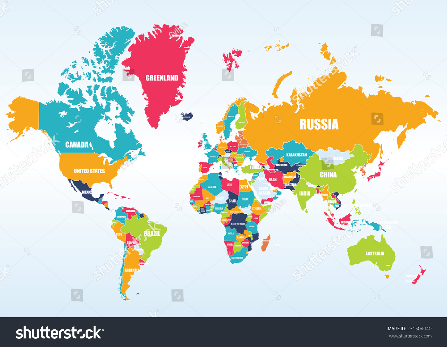 World map-countries #231504040