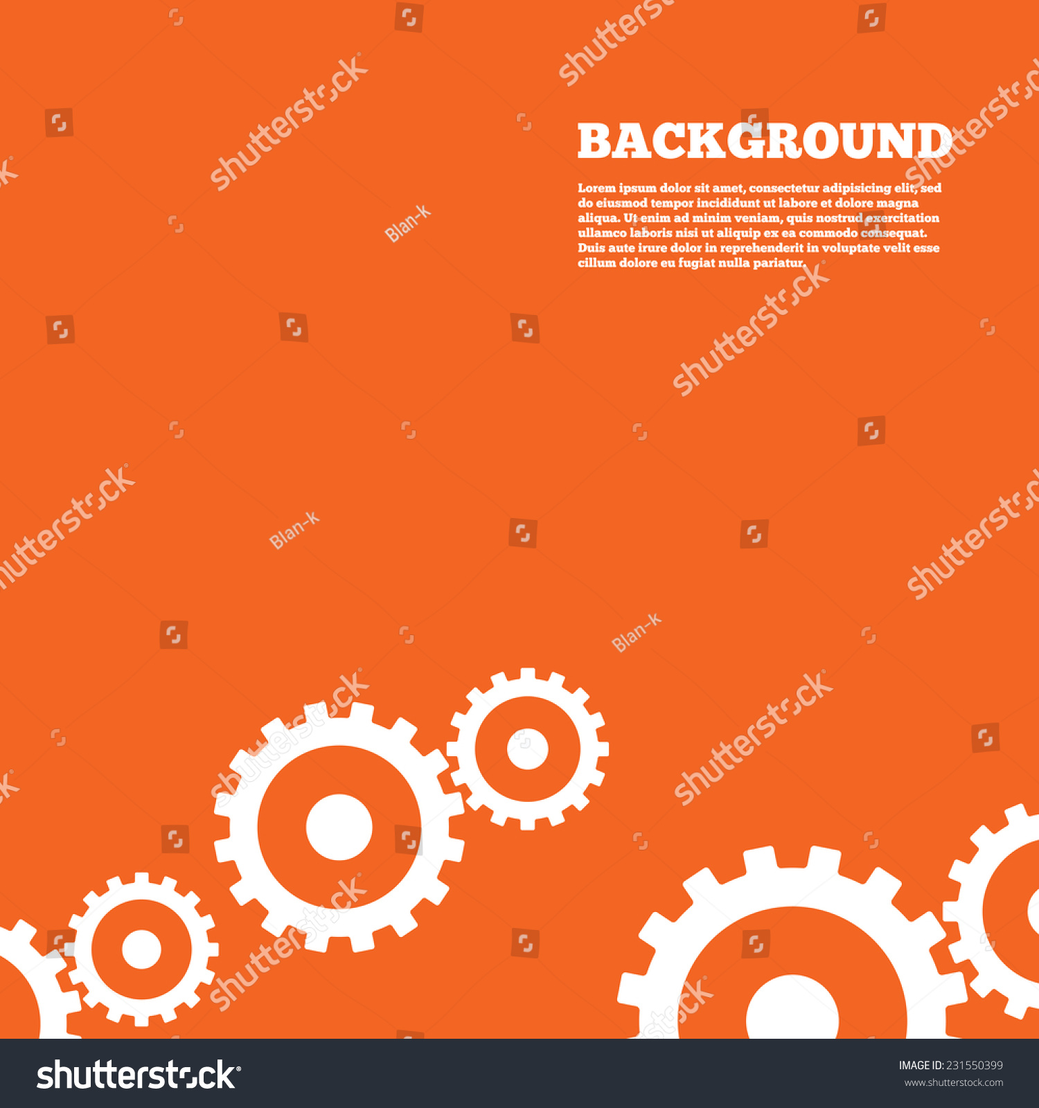 Modern Design Background Cog Settings Sign Stock Vector
